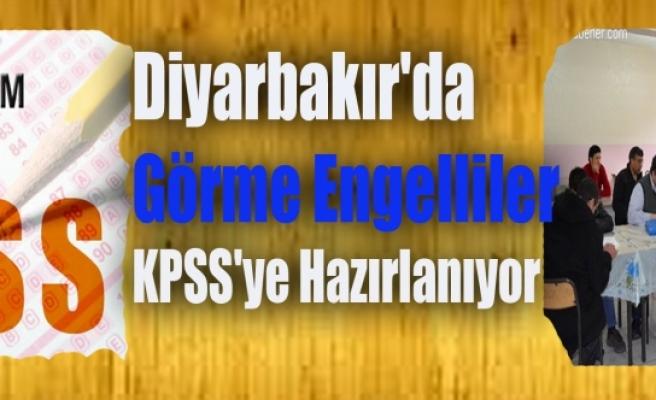 Diyarbakır'da Görme Engelliler KPSS'ye Hazırlanıyor