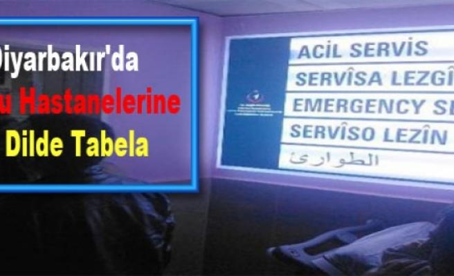 Diyarbakır'da Kamu Hastanelerine 4 Dilde Tabela
