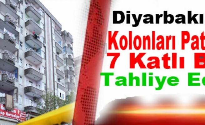 Diyarbakır'da Kolonları Patlayan 7 Katlı Bina Tahliye Edildi