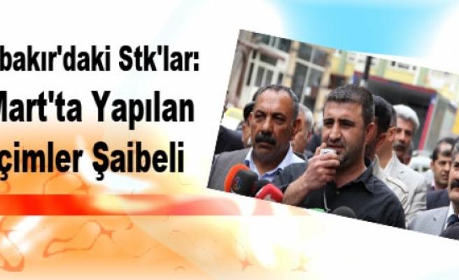 Diyarbakır'daki Stk'lar: 30 Mart'ta Yapılan Seçimler Şaibeli