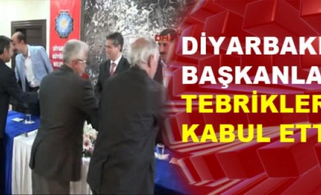 Diyarbakır'ın Başkanları Tebrikleri Kabul Etti