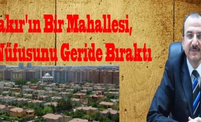 Diyarbakır'ın Bir Mahallesi, 39 İlin Nüfusunu Geride Bıraktı