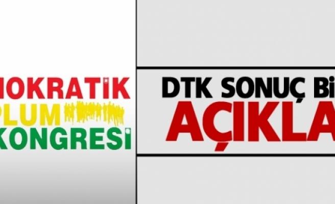 DTK sonuç bildirgesi açıklandı