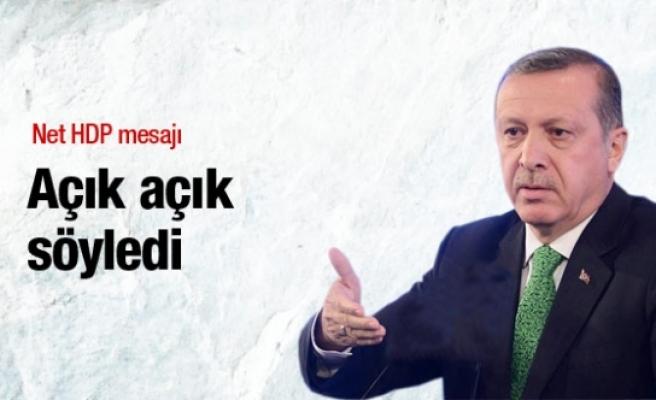 Erdoğan'dan net HDP mesajı: Dokunun