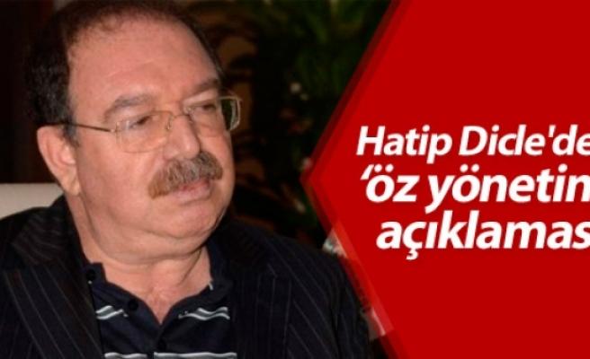 Hatip Dicle'den 'öz yönetim' açıklaması