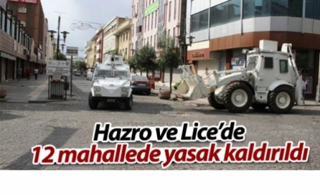 Hazro ve Lice'de 12 mahallede sokağa çıkma yasağı kaldırıldı