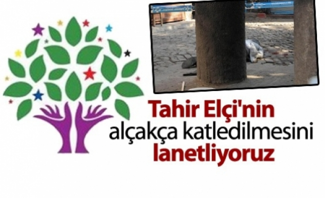 HDP: Tahir Elçi'nin alçakça katledilmesini lanetliyoruz...