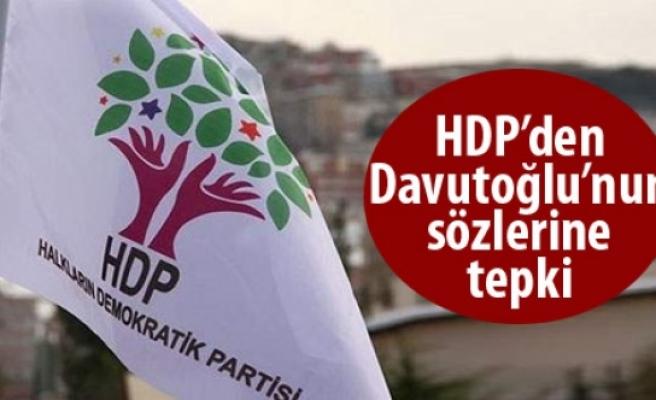 HDP'den, Başbakan Davutoğlu'nun sözlerine tepki
