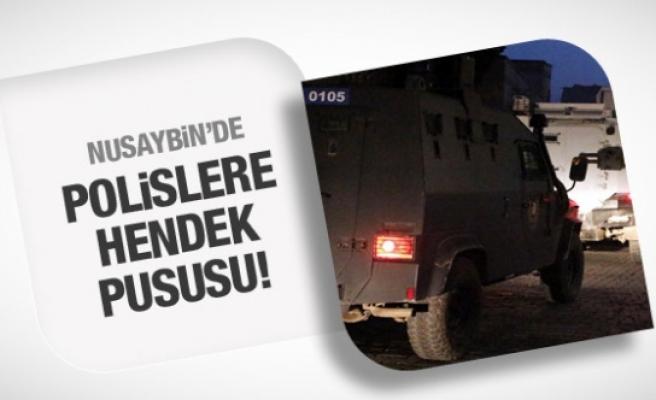 Hendek kapatan polise silahlı saldırı!