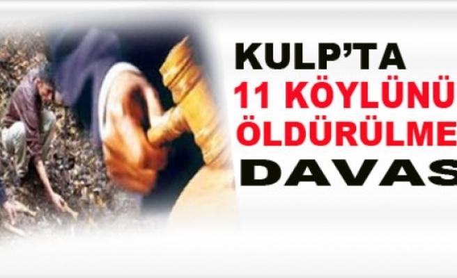 Kulp'ta, 11 Köylünün Öldürülmesi Davası