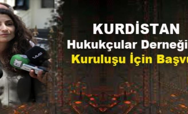 Kürdistan Hukukçular Derneğinin Kuruluşu İçin Başvuru