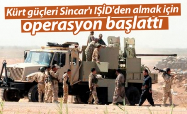 Kürtlerden Şengal'i IŞİD'den geri alma operasyonu
