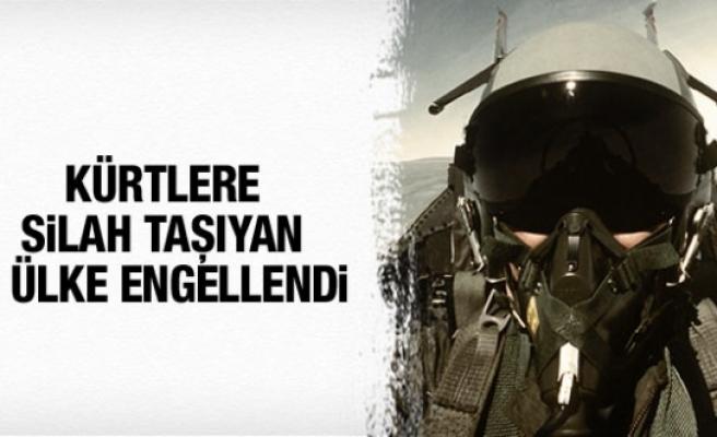 Kürtlere silah taşıyan iki ülkenin uçakları engellendi