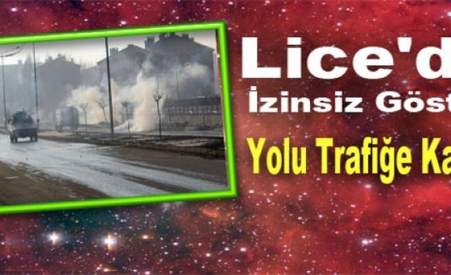 Lice'de İzinsiz Gösteri Yolu Trafiğe Kapattı