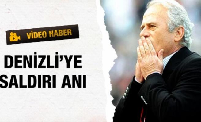 Mustafa Denizli'ye saldırı anı