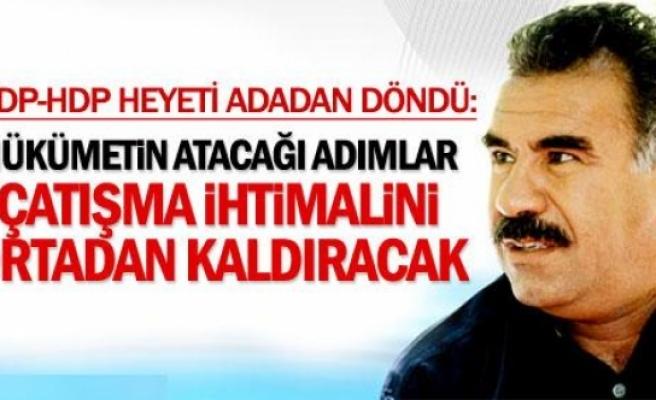 Öcalan: Hükümetin atacağı adımlar çatışma olasılığını ortadan kaldıracak