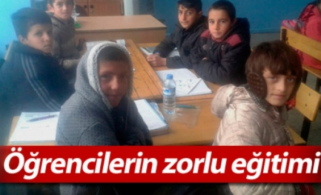 Öğrencilerin zorlu eğitimi
