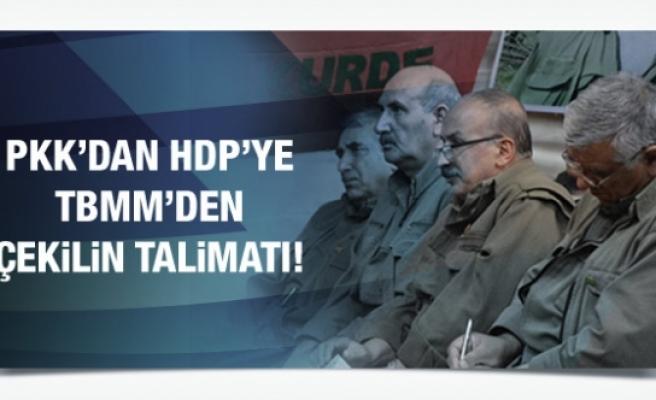 PKK'dan HDP'ye TBMM'den çekilin talimatı!