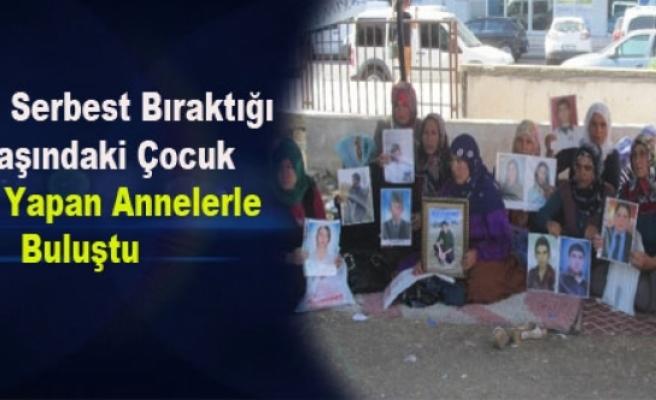 PKK'nın Serbest Bıraktığı 15 Yaşındaki Çocuk Eylem Yapan Annelerle Buluştu