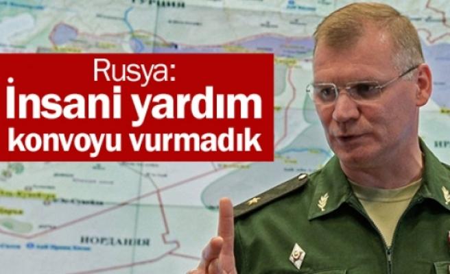Rusya: İnsani yardım konvoyu vurmadık