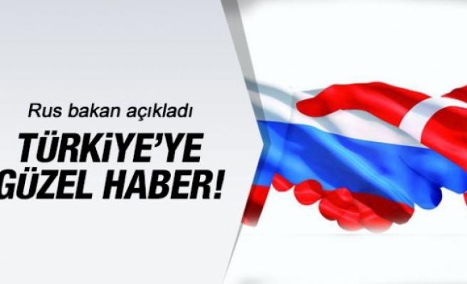 Rusya'dan Türkiye'ye bu sefer güzel haber!