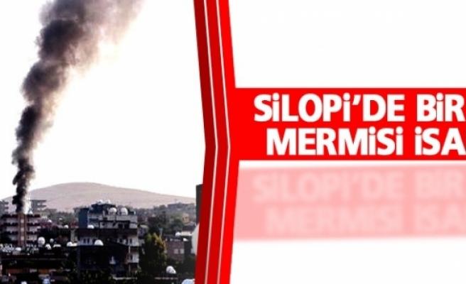 Silopi'de bir eve top mermisi isabet etti