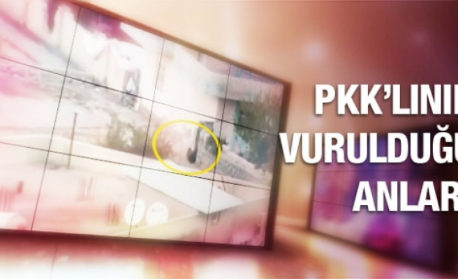 Şırnak'ta O PKK'lının vurulduğu an kamerada...
