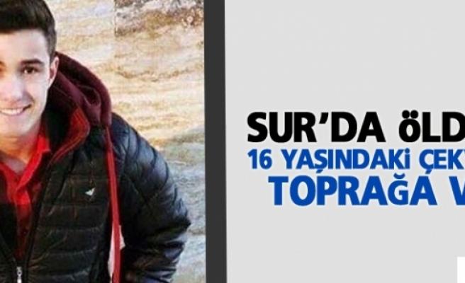 Sur'da öldürülen 16 yaşındaki Çekvar Çubuk toprağa verildi