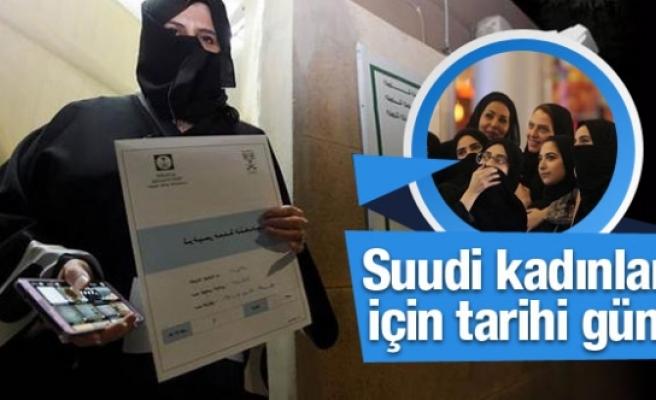 Suudi Arabistan kadınları için tarihi gün