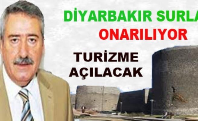 Turizme Kazandırılacak Diyarbakır Surları'nda Onarım