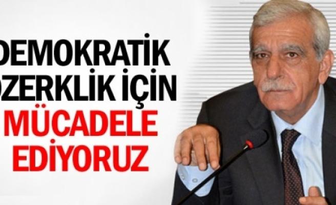 Türk: Demokratik özerklik için mücadele veriyoruz