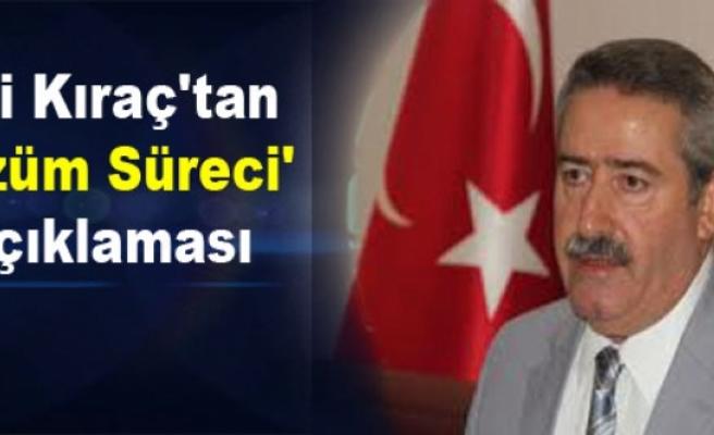 Vali Kıraç'tan 'Çözüm Süreci' Açıklaması