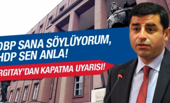 Yargıtay'dan HDP'ye kapatma uyarısı!
