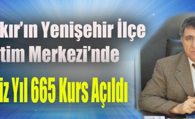 Yenişehir Hem'de Geçtiğimiz Yıl 665 Kurs Açıldı