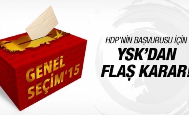 YSK'dan HDP'nin seçimin iptali başvurusuna cevap!