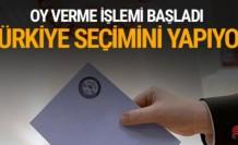56 milyon seçmen sandık başında oy verme işlemi başladı