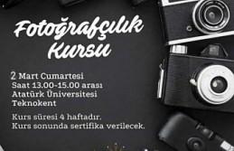 ERZURUM'DA ÜCRETSİZ FOTOĞRAFÇILIK KURSU EĞİTİME BAŞLADI