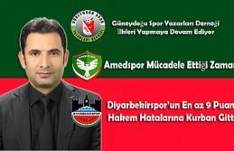 GSYD Teşekkür, Amedspor Mücadele ve Zafer, Diyarbekirspor'un...