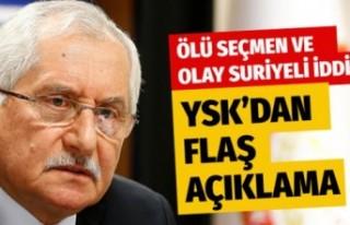 YSK Başkanı Sadi Güven konuştu! Olay ölü seçmen...