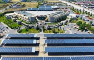 Sümerpark ve Terminal'de kurulu Güneş enerjisinden...