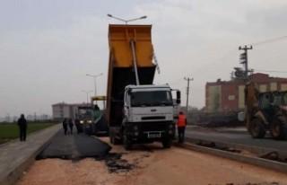 Yenişehir'de asfaltlama çalışmaları devam...