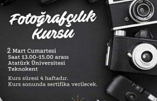 ERZURUM'DA ÜCRETSİZ FOTOĞRAFÇILIK KURSU EĞİTİME...