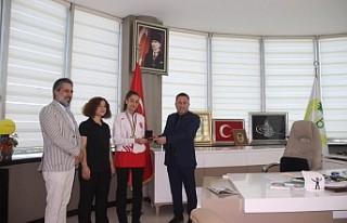 Başkan Beyoğlu'ndan Şampiyon Kareteciye Destek