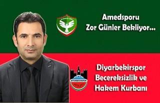 Amedsporu Zor Günler Bekliyor… Diyarbekirspor Becereksizlik...