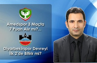 Amedspor 3 Maçta 7 Puan Alır mı?... Diyarbekirspor...