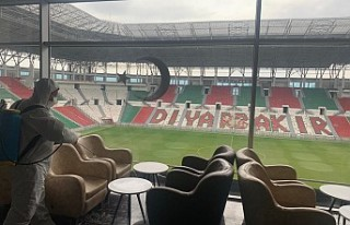 Diyarbakır Stadyumu Dezenfekte Edildi