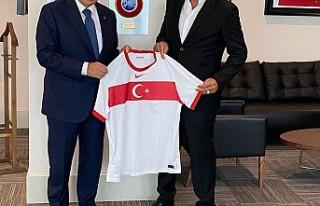 İlhanlı'dan TFF Başkanı Özdemir'e Ziyaret