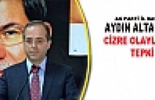 AK Parti İl Başkanı Altaç'tan Cizre Olaylarına...