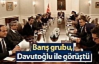 Barış grubu, Başbakan Davutoğlu ile görüştü