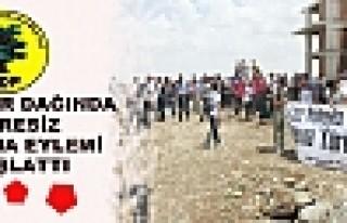 BDP, Kırklardağı'nda Süresiz Oturma Eylemi Başlatt